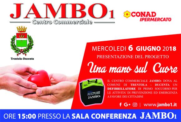 Jambo dona un defibrillatore