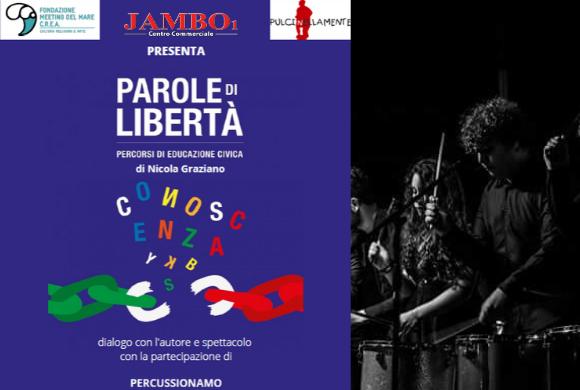 Parole di Libertà // PercussionAmo // Sabato 14 dicembre 2019 al Jambo