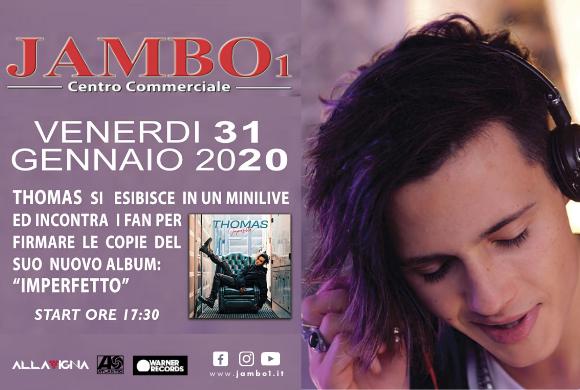 """Thomas // Venerdì 31 Gennaio h. 17.30 // Firmacopie """"Imperfetto"""""""