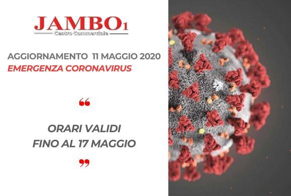 Emergenza CORONAVIRUS – 11 MAGGIO 2020 – AGGIORNAMENTO ORARI